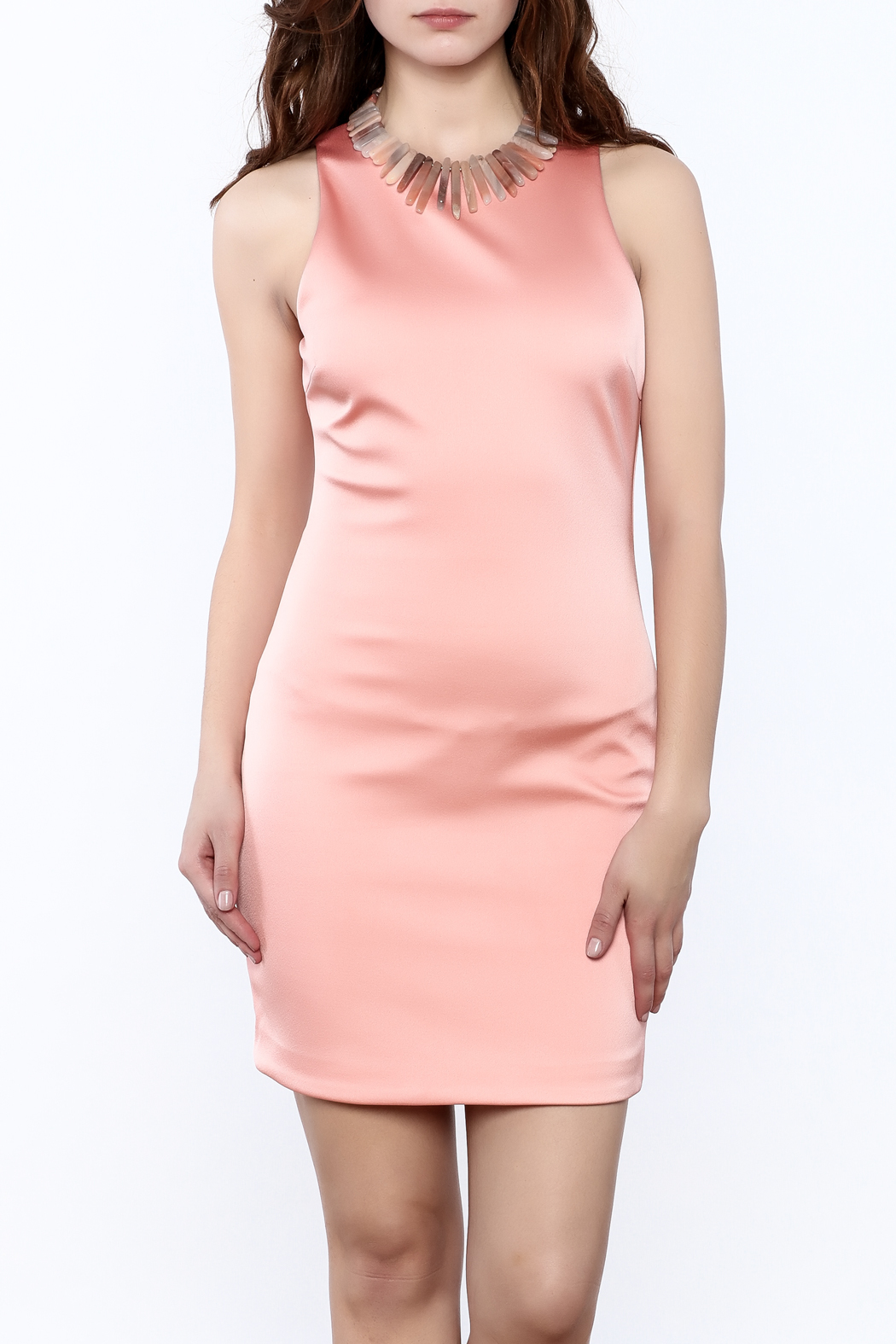 Sugar Lips Salmon Bodycon Dress - Main Image