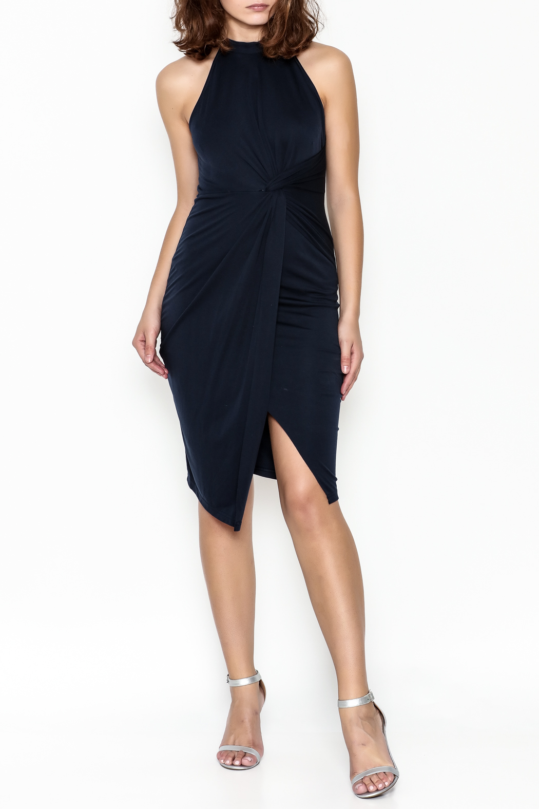 Sugar Lips Twisted Bodycon Dress - Side Cropped Image