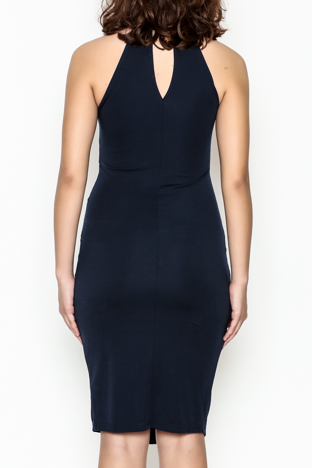 Sugar Lips Twisted Bodycon Dress - Back Cropped Image
