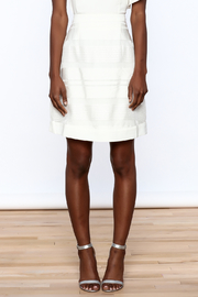 Sugar Lips White Stripes Skirt - Side cropped