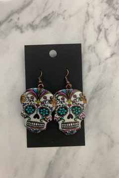 0-105 Sugar Skull Earrings - Alternate List Image