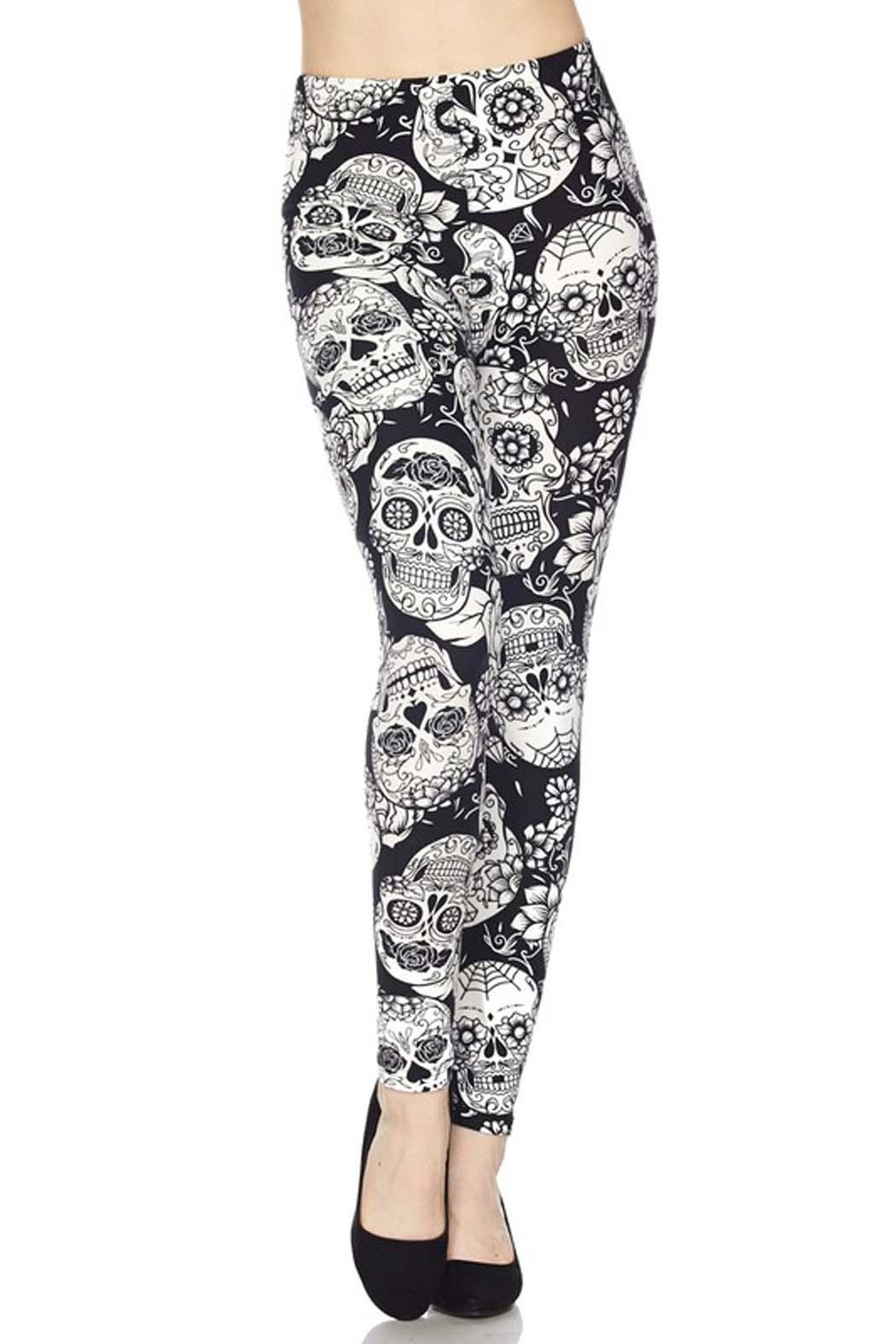 New Mix Sugar Skull Legging - Front Cropped Image