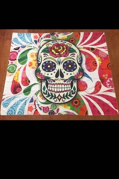 New Mix Sugar Skull Tapestry - Alternate List Image
