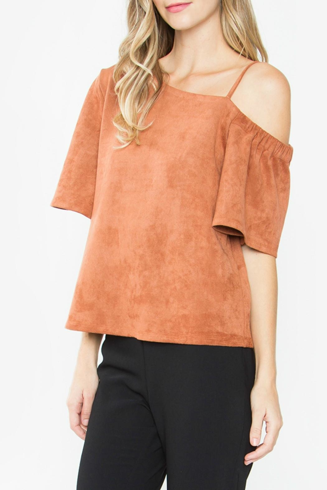 Sugar Lips Abiline Suede Top - Front Full Image