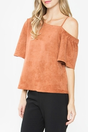 Sugar Lips Abiline Suede Top - Front full body