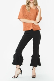 Sugar Lips Abiline Suede Top - Back cropped