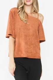 Sugar Lips Abiline Suede Top - Front cropped