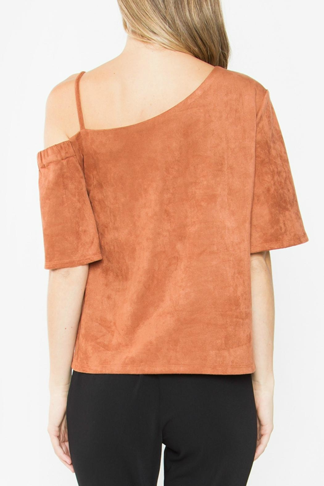 Sugar Lips Abiline Suede Top - Side Cropped Image