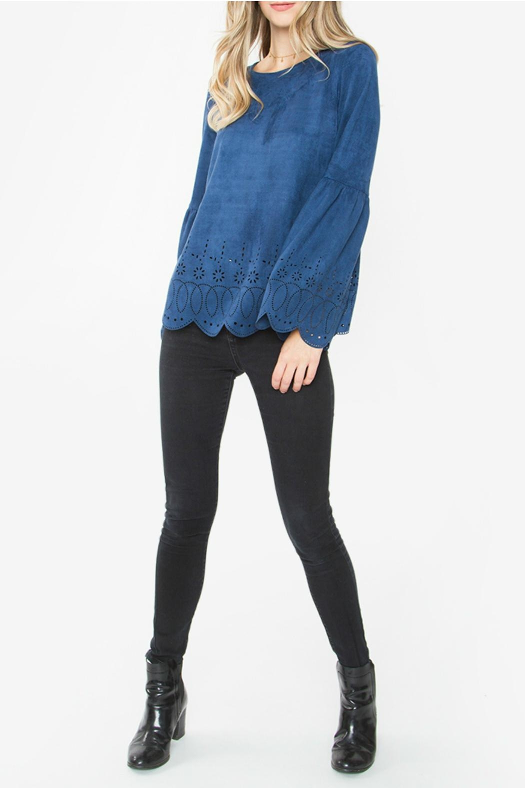 Sugar Lips Aletta Suede Top - Side Cropped Image