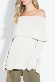 Sugar Lips Avalon Off Shoulder Sweater - Front cropped
