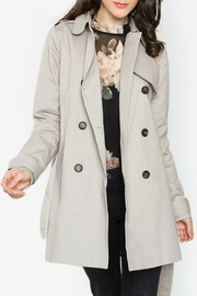 Sugar Lips Beige Trench Coat - Front cropped