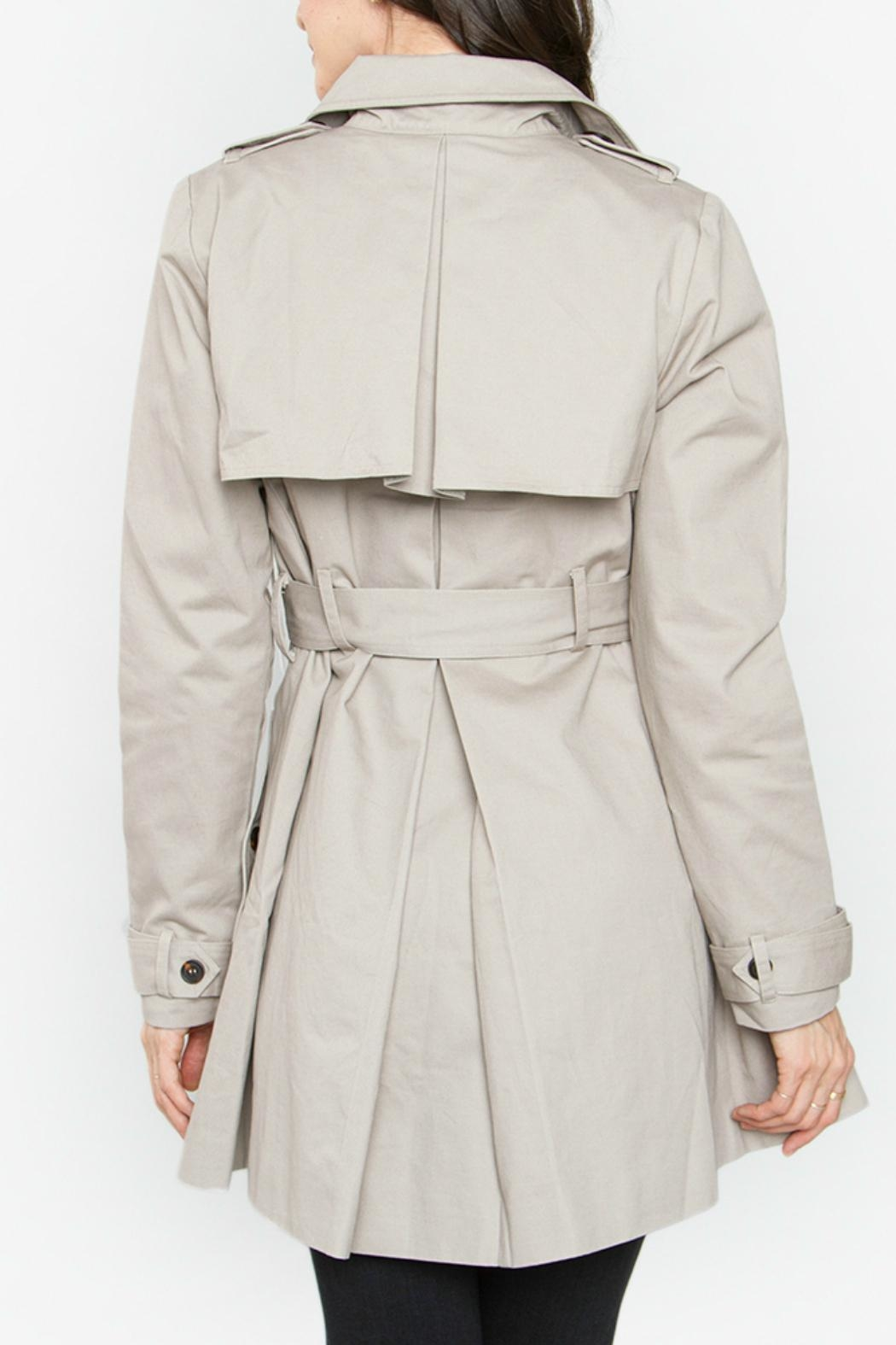 Sugar Lips Beige Trench Coat - Side Cropped Image