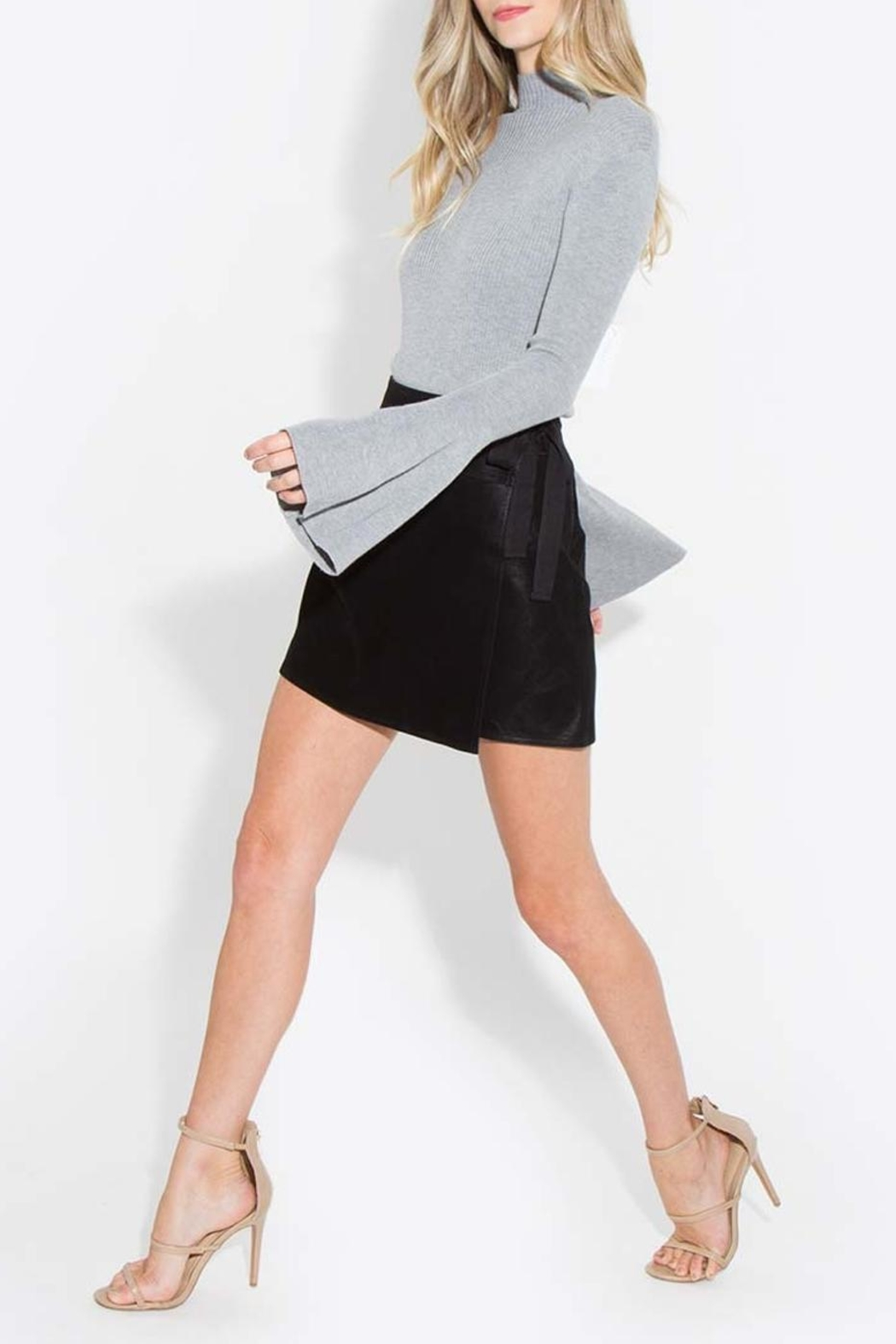 Sugar Lips Bell Sleeve Sweater - Front Cropped Image