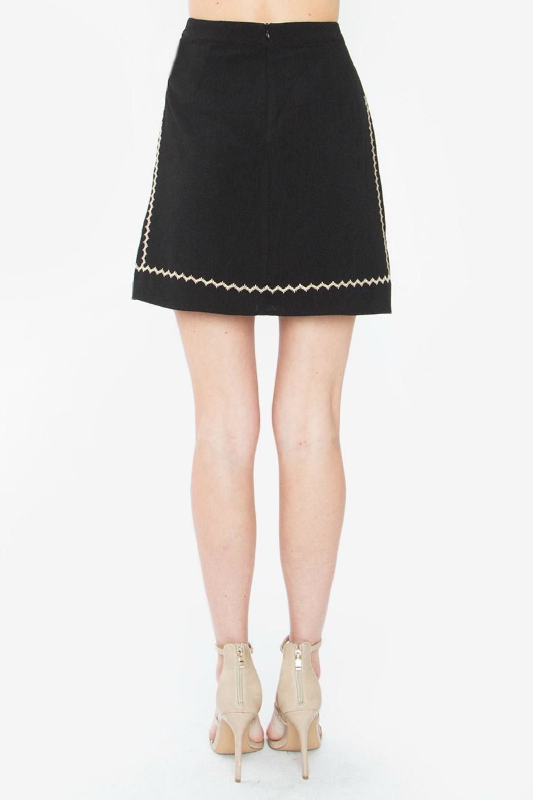 Sugar Lips Black Embroidered Skirt - Front Full Image