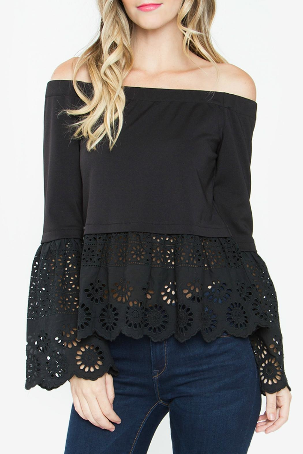 580065cbfce4bf Sugar Lips Black Off Shoulder Top from Pennsylvania by The Hanger ...