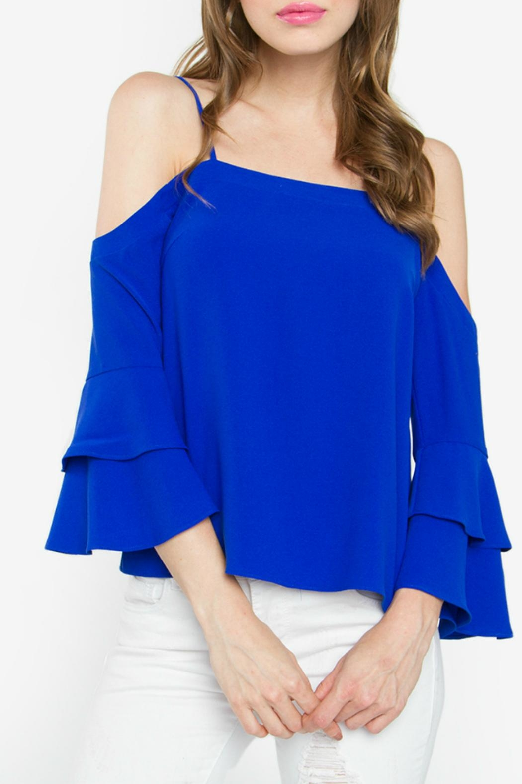 dc95f5d3c25bd7 Sugar Lips Cobalt Cold Shoulder Top from Atlanta by Natasha Couture ...