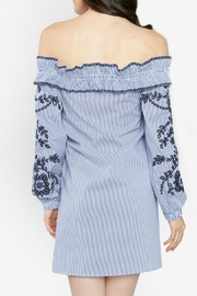 Sugar Lips Blue Off-The-Shoulder Dress - Side cropped