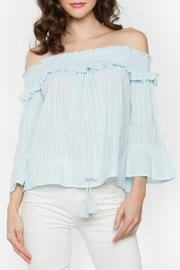 Sugar Lips Blue Off The Shoulder Top - Product Mini Image