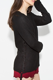 Sugar Lips Braided Side Sweater - Front cropped