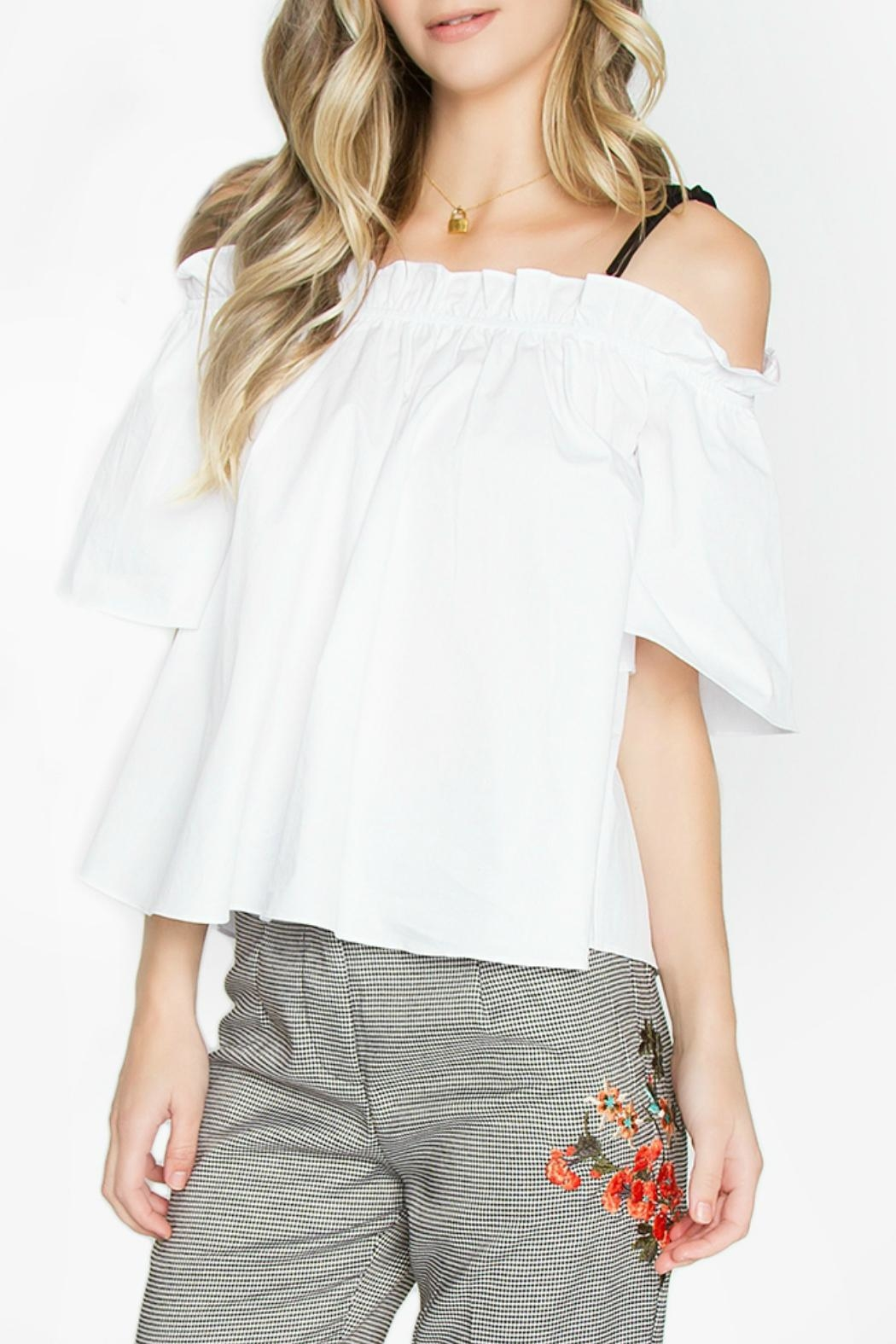 Sugar Lips Bree Open-Shoulder Top - Front Cropped Image
