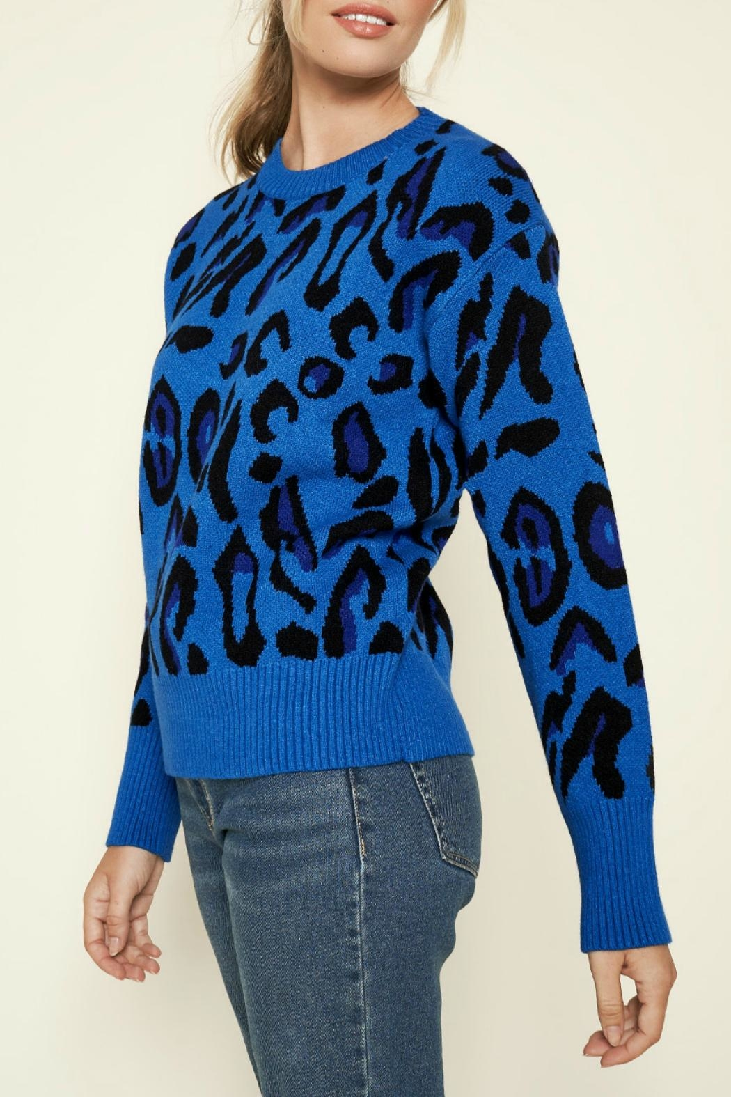 Sugar Lips Charmed Leopard Print Sweater - Front Full Image