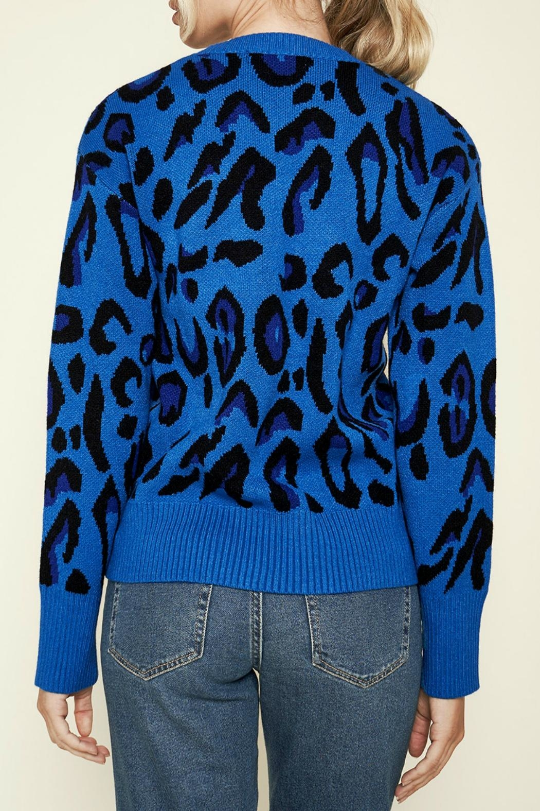 Sugar Lips Charmed Leopard Print Sweater - Side Cropped Image