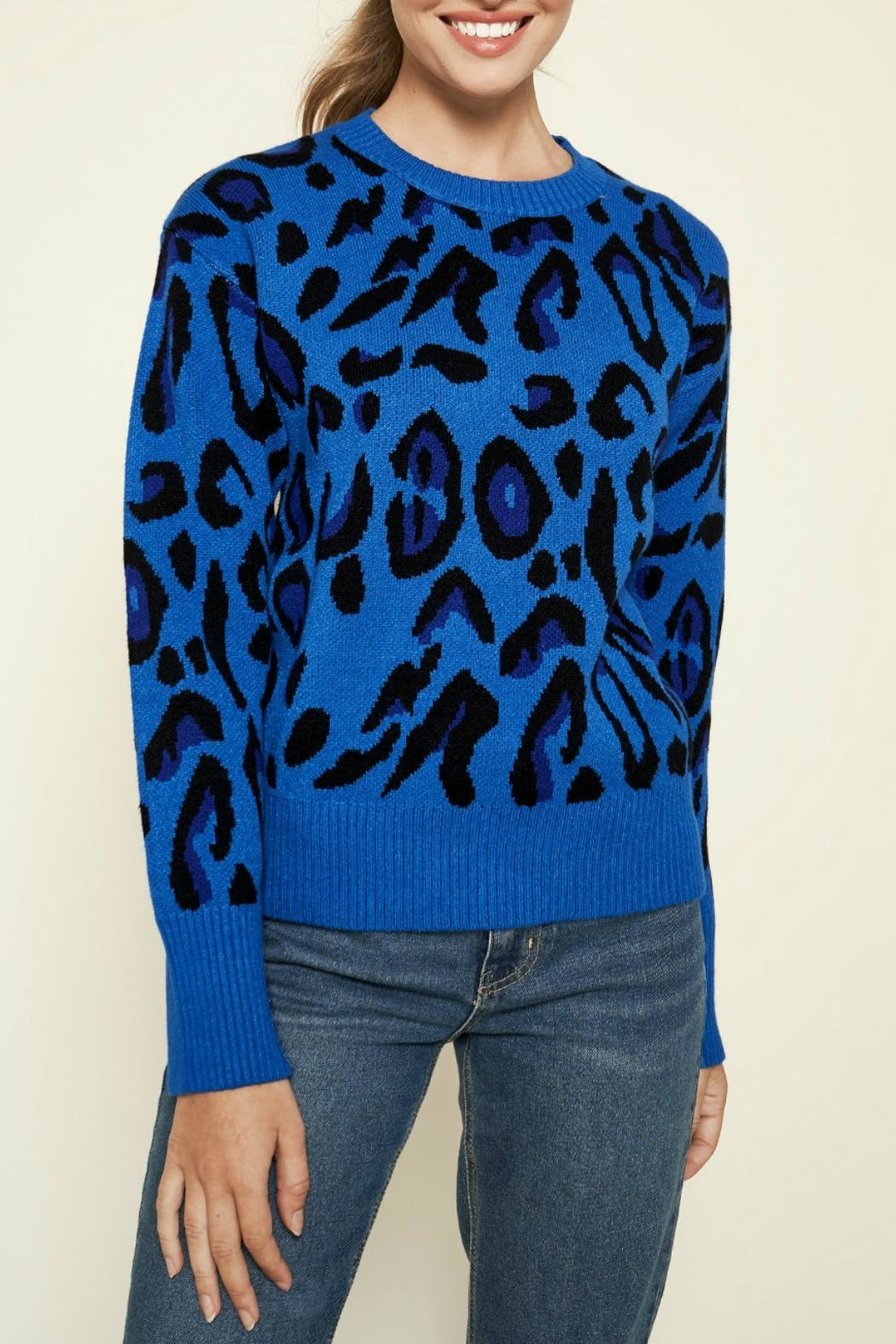 Sugar Lips Charmed Leopard Print Sweater - Main Image