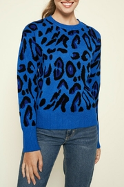 Sugar Lips Charmed Leopard Print Sweater - Front cropped