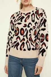 Sugar Lips Charmed Leopard Print Sweater - Product Mini Image