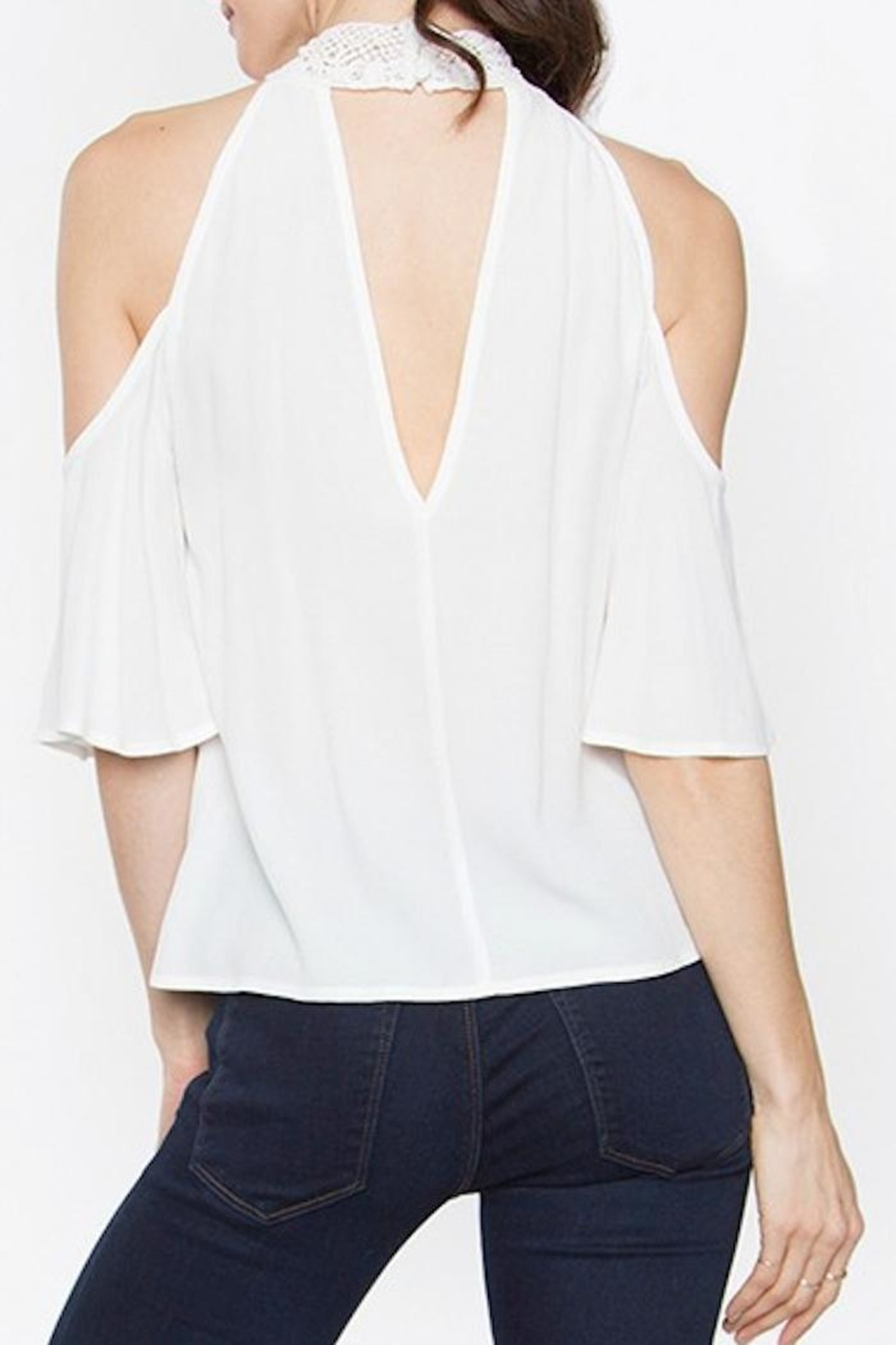 Sugar Lips Cold Shoulder Top - Side Cropped Image