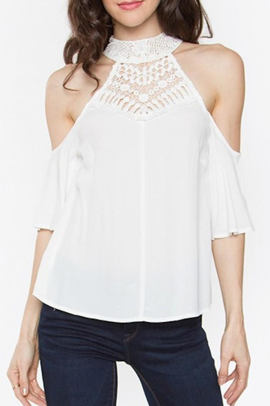 Sugar Lips Cold Shoulder Top - Main Image