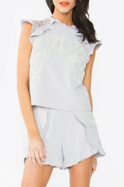 Sugar Lips Crochet Lace Top - Front cropped