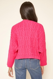 Sugar Lips Cropped Cable Sweater - Side cropped