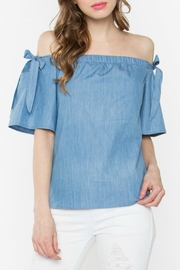 Sugar Lips Denim Off The Shoulder Top - Product Mini Image