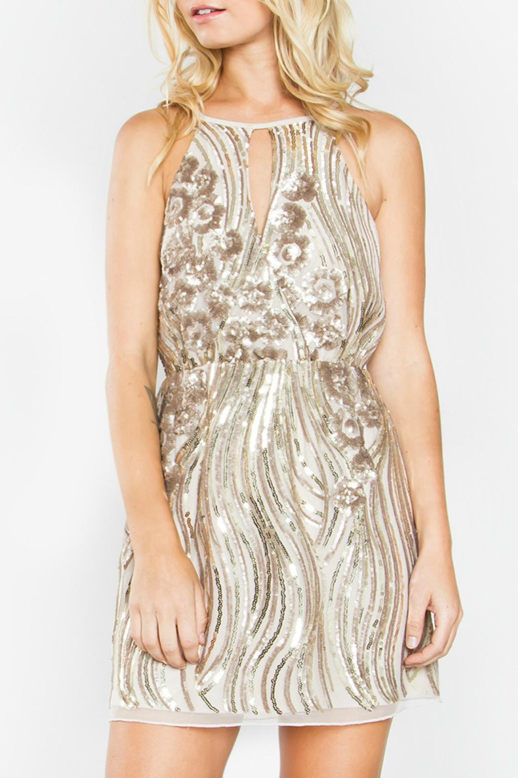 Sugar Lips Destiny Sequin Dress - Front Cropped Image