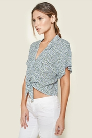 Sugar Lips Ditsy Floral Top - Front cropped