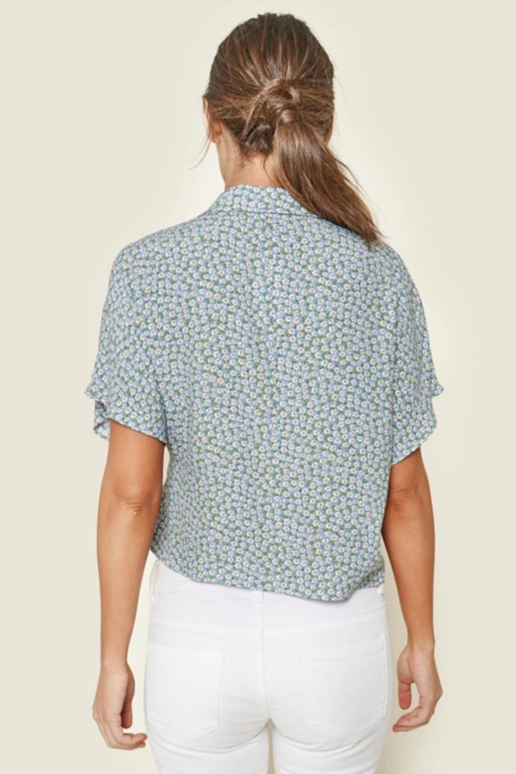 Sugar Lips Ditsy Floral Top - Front Full Image