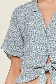 Sugar Lips Ditsy Floral Top - Side cropped