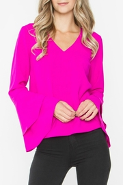 Sugar Lips Elia Ruffle Top - Front cropped
