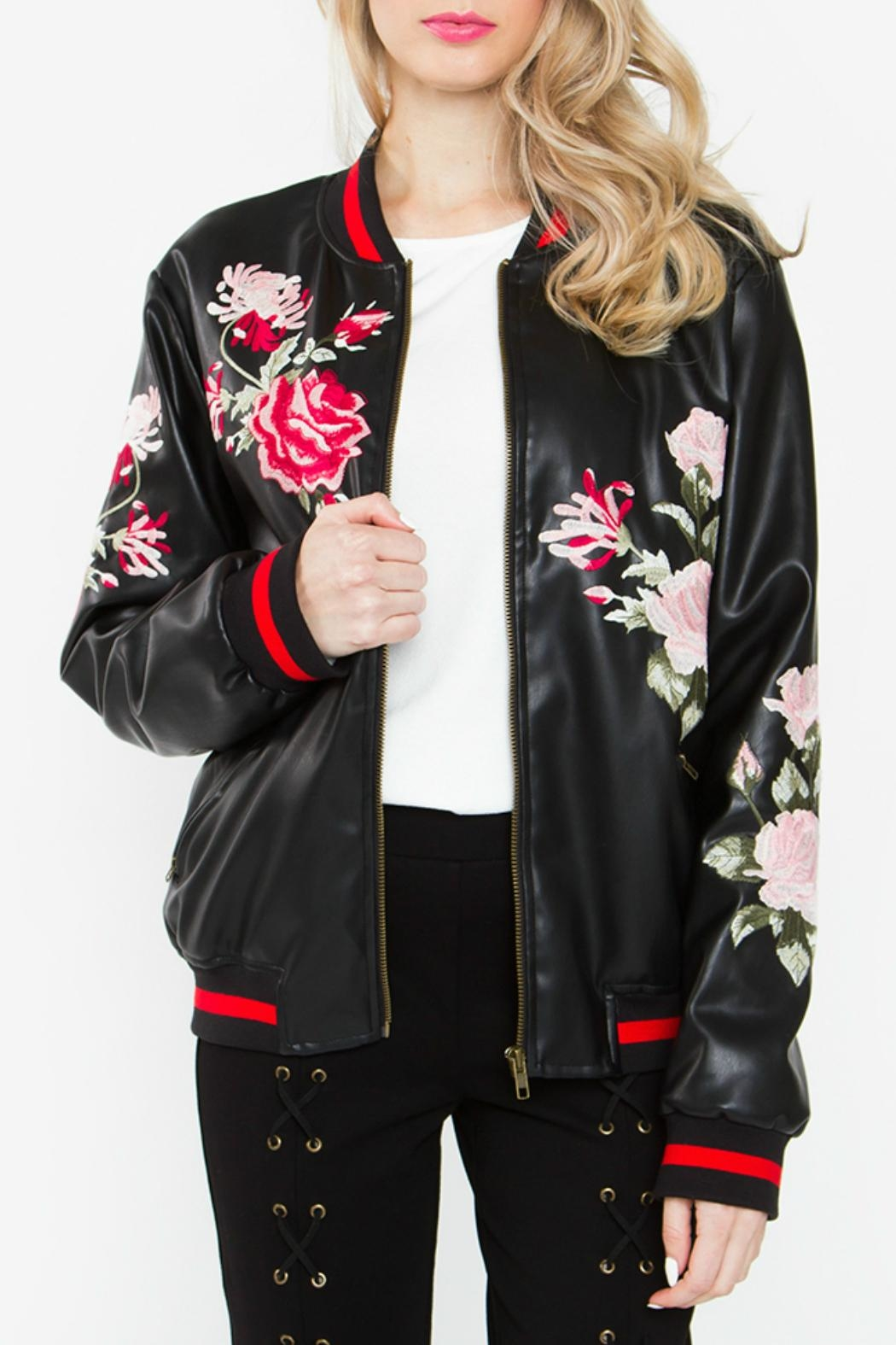 Sugar Lips Embroidered Bomber Jacket - Main Image