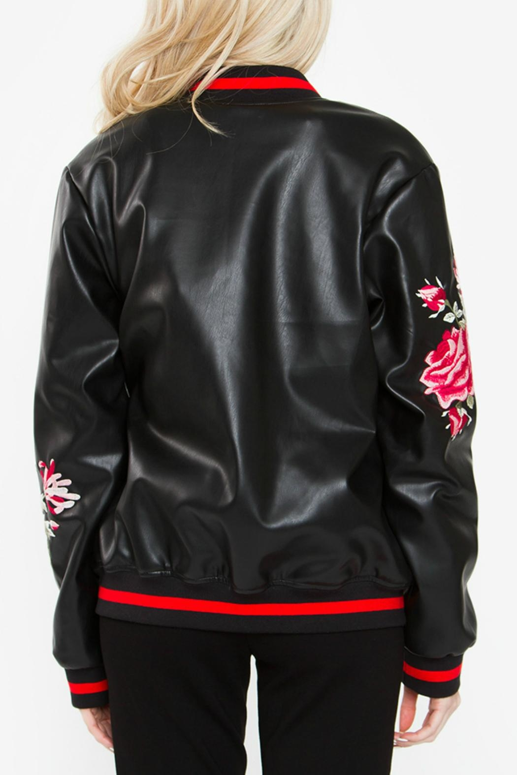 Sugar Lips Embroidered Bomber Jacket - Side Cropped Image