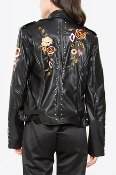 Sugar Lips Embroidered Leather Jacket - Alternate List Image