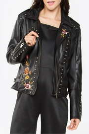 Sugar Lips Embroidered Leather Jacket - Product Mini Image