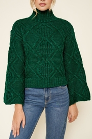 Sugar Lips Emerald Cable-Knit Sweater - Product Mini Image