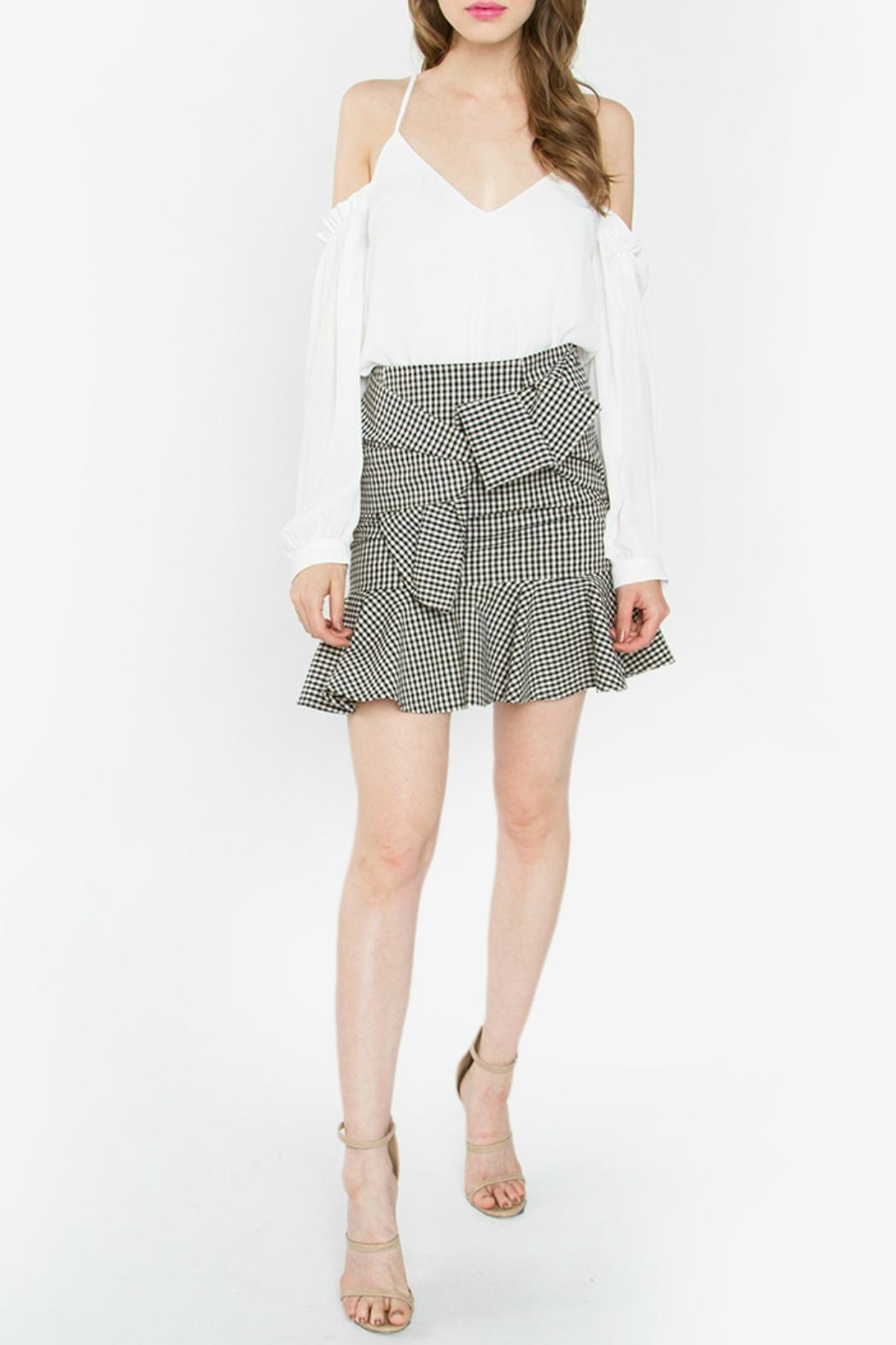 Sugar Lips Fete Gingham Skirt - Front Cropped Image