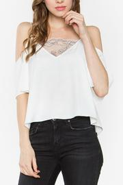 Sugar Lips Flirty Cold Shoulder Top - Product Mini Image