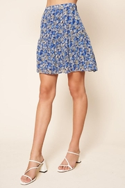 Sugar Lips Floral Mini Skirt - Front full body