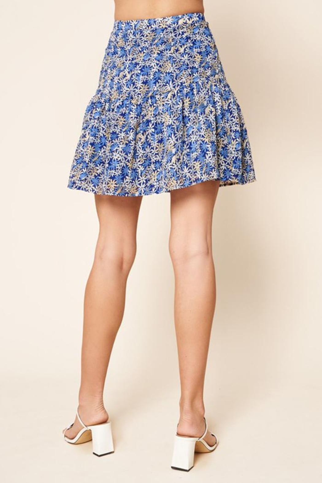 Sugar Lips Floral Mini Skirt - Side Cropped Image