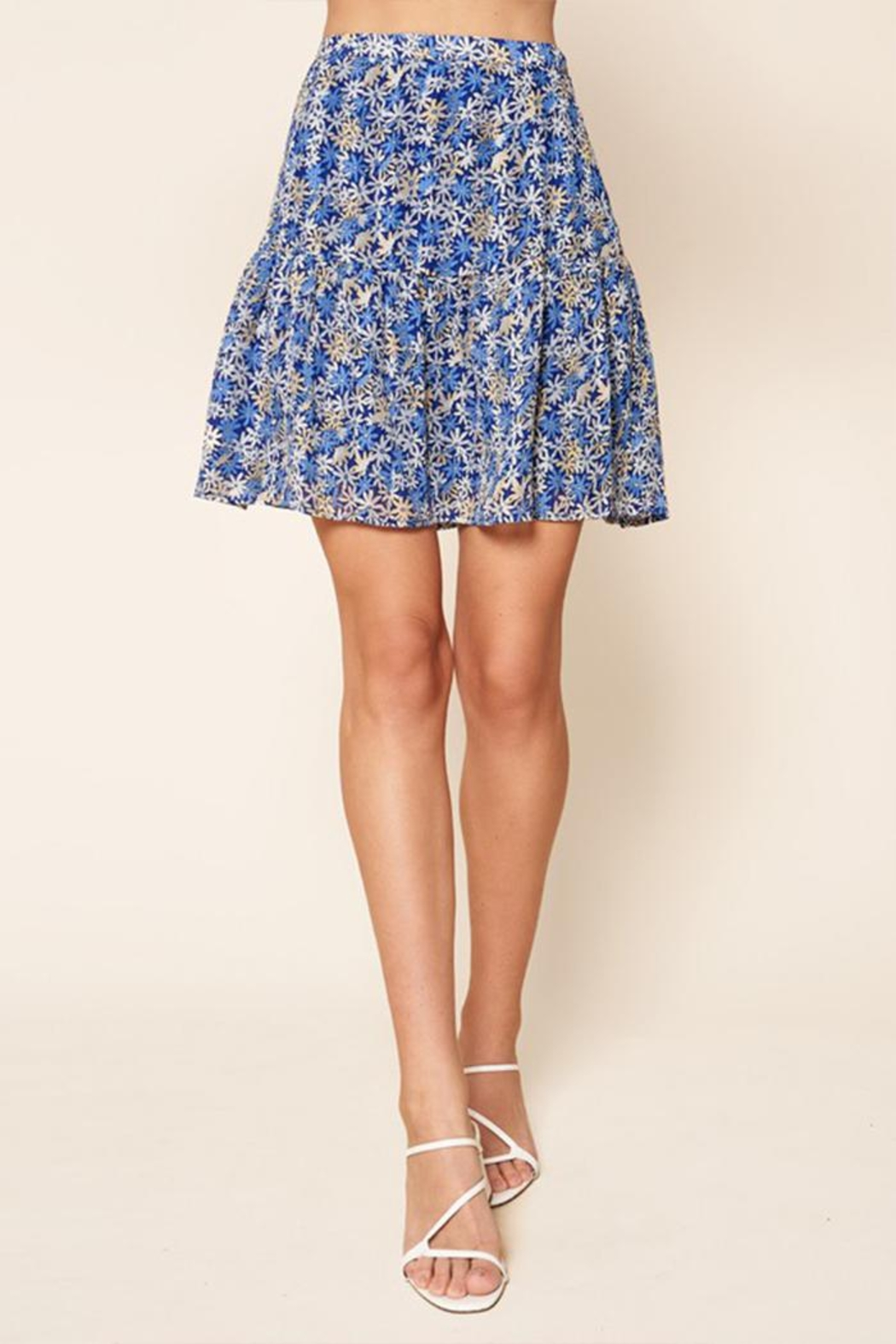 Sugar Lips Floral Mini Skirt - Main Image