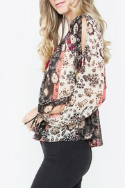 Sugar Lips Floral Print Top - Front full body